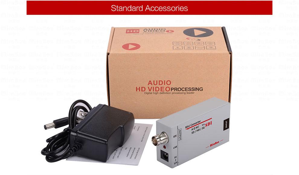 Mini 3g HDMI To SDI Converter Full HD 1080P HDMI to SDI Adapter Video Converter with Power Adapter for Driving HDMI Monitors (10)