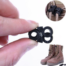 10Pcs Outdoor Shoes Lace Antiskid Buckle Survive Kit Plastic Gear Multi-function Camping Hiking Tools P15(China)