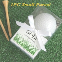 Unique sporty theme Gift For wedding of A Leisurely Game of Love Golf Ball Tape Measure Wedding Favors and Party favors(China)