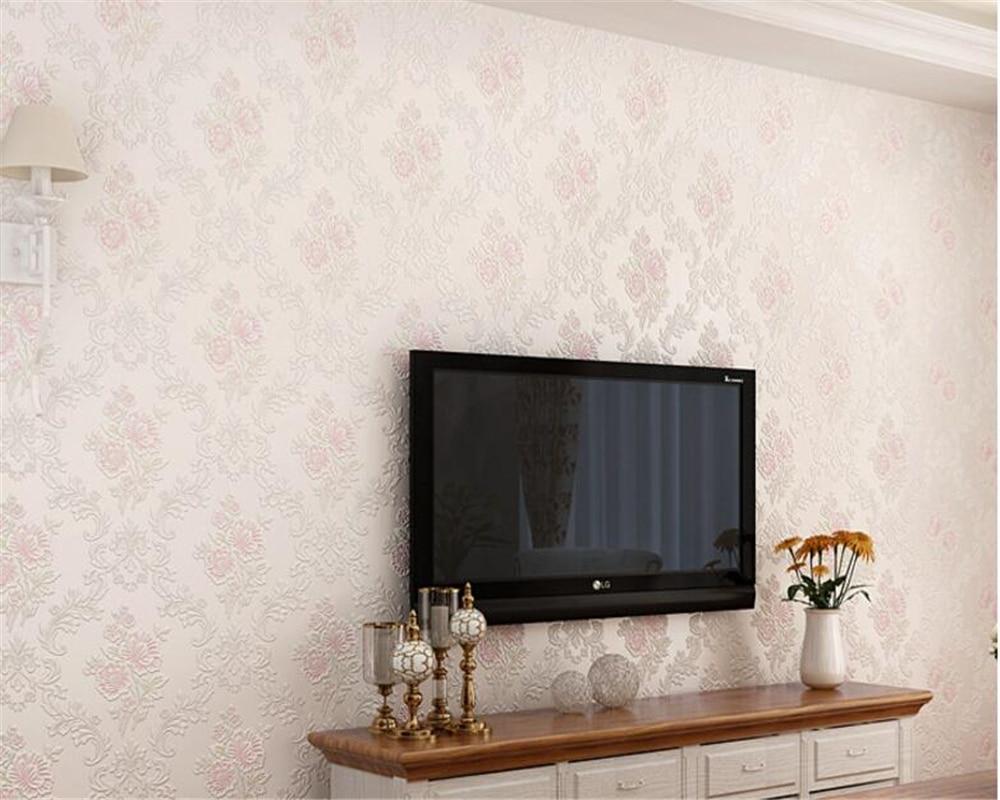 beibehang  papel de parede European garden Damascus Suihua high foaming non woven wallpaper 3D room background  wall paper <br>