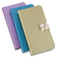 New Fashion Bling Diamond Glitter PU Flip Leather mobile phone Cover Case For Huawei Y5 2 / Huawei Y5 II (5inch) Fast delivery