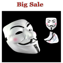 2016 High qualityParty Masks 1pcs V for Vendetta Anonymous Guy Fawkes Mask Halloween Cosplay Free shipping  Scary Mask
