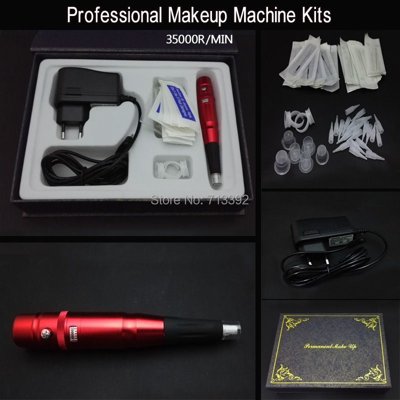Hot Sale Permanent Makeup  Eyebrow Lip Machine Kits Free Shipping<br>