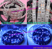 Free shipping China Post Registered Air Mail DC12V 5M 5050 UV  Waterproof 60 LEDs/M Ultra Violet 395-405nm LED Strip Light