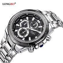 75cefdbff16 Relógios novos dos homens Relógio De Quartzo Homens Top Marca de Luxo  Completa Steel Business Masculino Sports Relógios de Pulso.