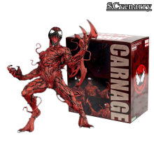 MARVEL CARNAGE DC Super Hero Spiderman Spider Man 1/10 PVC Action Figure Collectible Model Toys  16cm