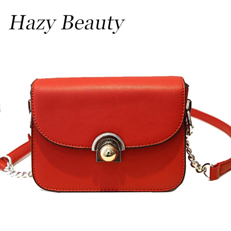 Hazy beauty New Cade pu leather women handbag super chic lady trunk design chain bag hot girls bolsa famina small flap DH310<br><br>Aliexpress