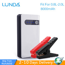LUNDA Jump Starter 8000mAh 12V Car jump starter Portable Power Bank mini Emergency booster Car Battery Car Charger  To 2.0L Car