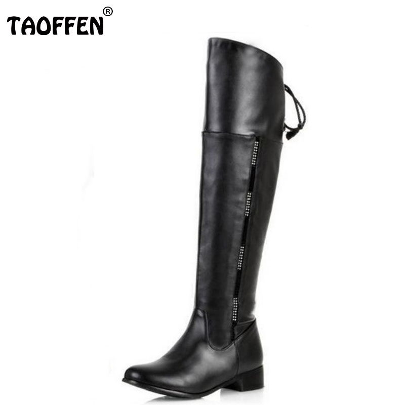 size 34-47 women flat over knee boots ladies riding fashion long snow boot warm winter brand botas footwear shoes P1316<br>