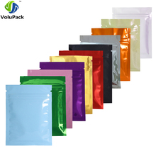 7.5x10cm/3x4in 100pcs/lot Glossy Colors Flat Gift Packing Bags Mini Zip Lock Aluminum Foil Mylar Retail Package Bag Pouch(China)