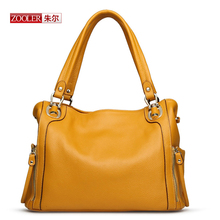 ZOOLER 2017  limited Genuine leather woman handbag 4-colour option luxury brand shoulder ladies design with silt pockets3SY-2615