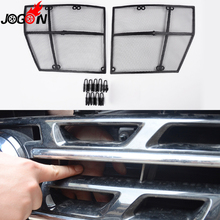For Nissan Patrol Y62 2011- 2016 2017 Car Front Mesh Grille Grill Grid Inserts Fly Dust Net Stainless Steel 2PCS Car-Styling