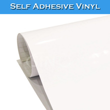 PVC Material Transparent Glue Self Adhesive Vinyl Film For ECO Solvent Printing(China)