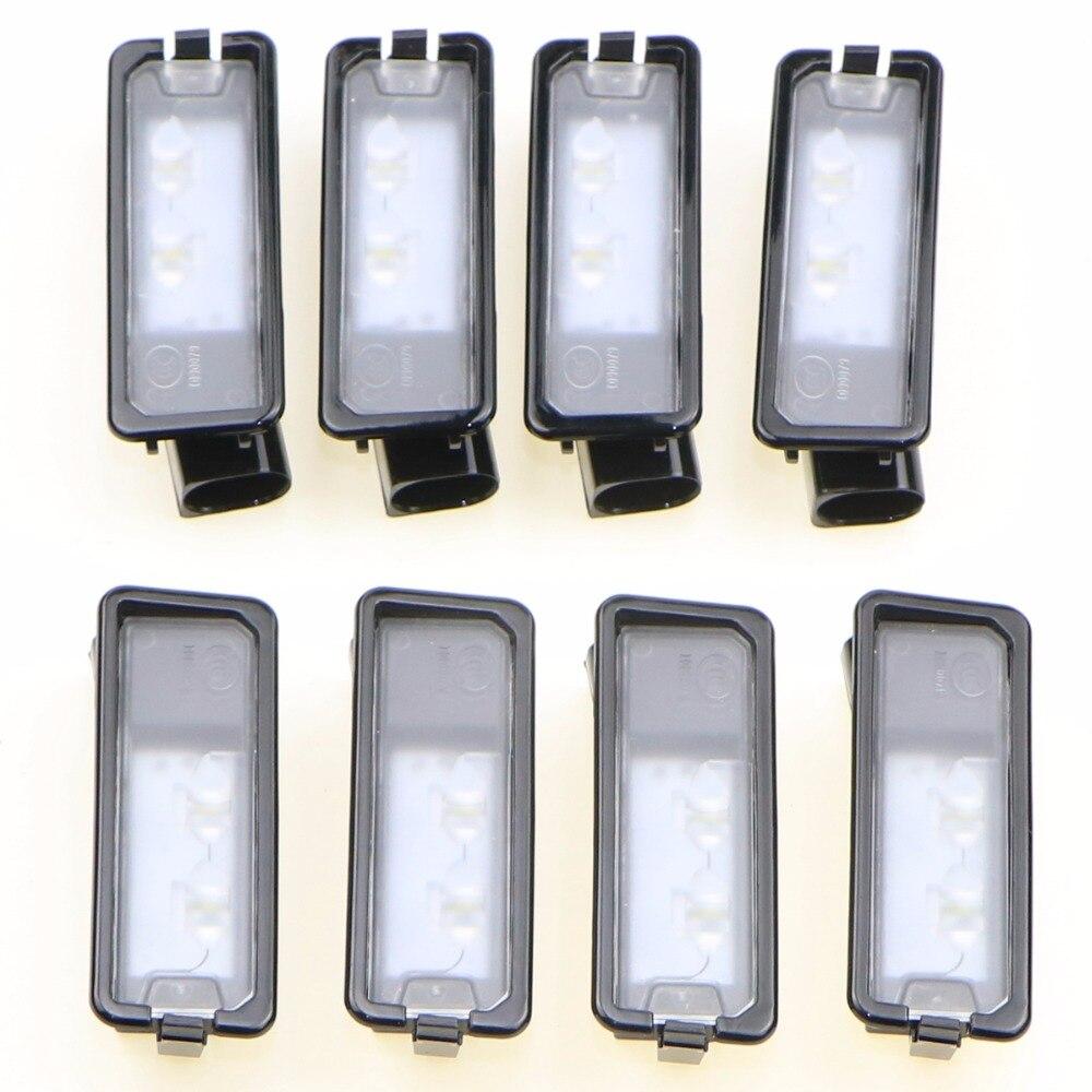 8Pcs OEM VW Genuine Light License Plate LED License Plate Lamp Fit VW Passat B7 Golf MK7 Scirocco CC Polo 6R 35D 943 021 A<br>