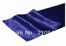 free shipping 10 pcs/lot navy blue table runner table runners for wedding