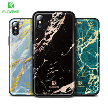 FLOVEME Colorful Marble Case for iPhone X Luxury Silicon Mobile Phone Cases for Apple iPhone 7 8 Plus Cover Protective Capinhas(China)