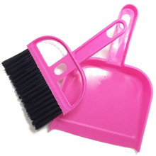 hot 1 Set Mini Brush Dustpan Broom Duster Dust Brushes DashBoard Keyboard Computer Cleaning Cleaner Tools Home Supplies 2017(China)