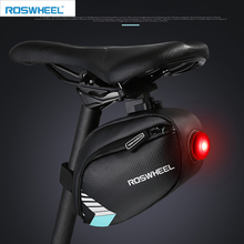 ROSWHEEL waterproof saddle bamtb bike bag bicycle rear saddle seat bag led light cycle  bycicle pannier bags accessories