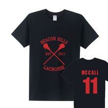 TeenWolf Beacon Hills Lacrosse Logo T Shirt Men Teen Wolf  T Shirts Cotton Short Sleeve O-neck Scott McCall 11 T-shirts OT-169