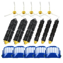 5 filter+3set main Brush+5 side brushes for iRobot Roomba 600 Series 595 620 630 650 660 680 690 accessoires aspirateur cepillos