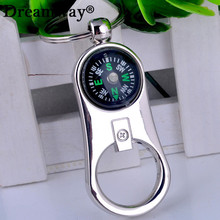 compass key chain pendant metal beer bottle opener keychain multifunction outdoor tools practical car bag accessories charm