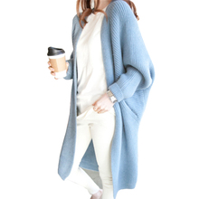 9 Colors Batwing Sleeve Long Cardigan Sweaters Women 2017 Fall Autumn Winter Casual Knit Loose Jumper Outwear Oversize Cardigan(China)
