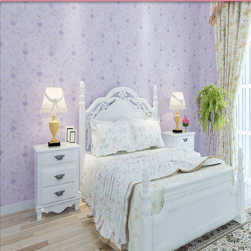 Free Shipping Green Cartoon Ballet Princess Bedroom Wallpaper Fantasy Kids Room Girl Room Non-Woven Wallpaper<br>
