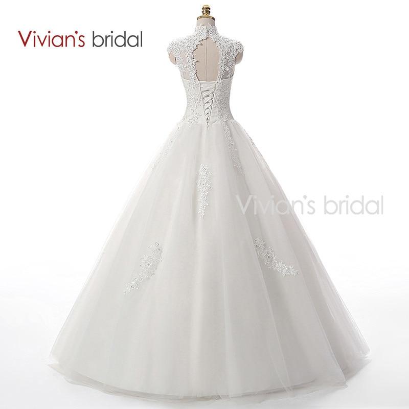 Vivian\'s Bridal A Line Lace Tulle Wedding Dresses 1