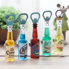 Magnet Bottle Opener fridge magnet Beer Opener ima de geladeira aimant imanes Retro Home bars cafes Small ornaments decorations(China)