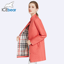 ICEbear 2017 Inside Zipper Pocket Designed Cotton Padded Jacket In Womens Parkas Long Thin Women's Coats Round Collar 17G270D