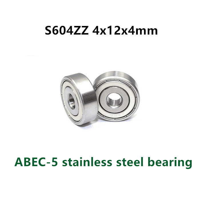 5 X 604RS Carbon Steel Rubber Shielded Deep Groove Ball Bearings 4x12x4mm