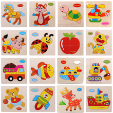 Wooden Puzzles For Children Magnetic Kids Puzzle Drawing Board Educational Toys Kids Multi-Dimensional Jigsaw Learning Puzzle(China)