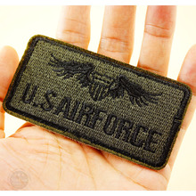U.S AIRFORCE Size:4.5x9.0cm Badges Iron On Patches Badge Embroidery Patch Applique Clothes Clothing Sewing Supplies Decorative