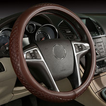 car steering wheels cover genuine leather accessories for Acura Integra CL Legend MDX NSX RDX RL SLX TL TSX Vigor(China)