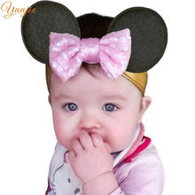 Infantil Girls Minnie Ears Headband For Kids 2017 Hair Accessories Cospaly Hair Bow Birthday Party Celebration DIY Hairbands
