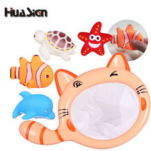5 Pieces/Set Sea Fishing Toy Turtle, Fish, Dolphin and Starfish Kids Toy Swimming Classes Summer Play Water Bath Toy