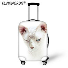 ELVISWORDS Luggage Cover Protective Suitcase Cover Travel on Road Canadian Hairless Cat Trolley Case Christmas for 18 to 30 Inch(China)
