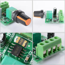 WS16  DC 1.8V-15V 1.8V 3V 5V 6V 12V 2A Pump Motor Speed Controller Adjustable Self-recovery Fuse PWM Control Switch 1803BK