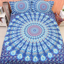 Wongs Mandala Bedding Brand New Bedding Set Bohemian Duvet Covers Pillowcase Twin Queen King Size 3PCS Bedclothes No Comforter
