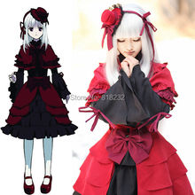 K Kushina Anna Fancy Apron Dress Uniform Maid Outfit Cosplay Costumes