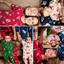 Family Matching Christmas Pajamas Set Women Baby Kids Deer Sleepwear Nightwear Fashion Father KIDS Mon New Year Family Look Sets(China)