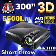 Best Full HD 5500 lumens XGA DLP Short throw holographic film Projector/projektor/projetor/proyector for school education office