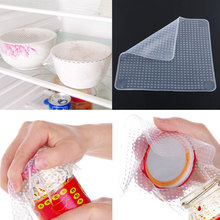Silicone Wrap Seal Cover Stretch Cling Film Tool Food Fresh Keeping Family Reusable Multifunctional 14.5X14.5cm(China)
