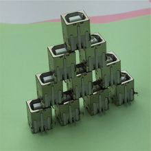 10pcs/lot USB B Type Female Socket Connector G45 for Printer Data Interface Free Shipping