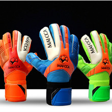 MAICCA Professional Kids Football Gloves Boys Thicken Latex Football Goalkeeper Gloves Soccer Goal Keeper Goalie Training Gloves(China)