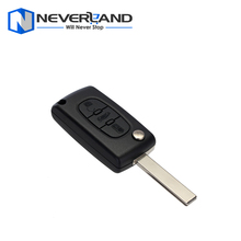 Remote Key Case Shell For Peugeot 407 407 307 308 607 Key Cover 3 Buttons Flip Key Case Free shipping D05