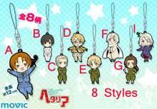 Anime Axis Powers hetalia cosplay Italy,United States,United Kingdom,Chinese pvc figure phone strap/Keychain pendant toys free