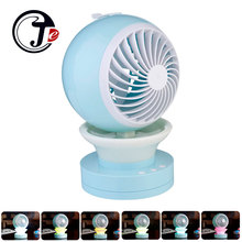 Portable Rechargeable Fan Table USB Fan Support Humidifier Outdoor Mini Fans with LED Light Air Cooler Air Conditioning for Home