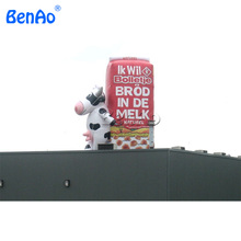 Z170 BENAO 3m Advertising exhibition stage decoration custom giant animal replica model inflatable milk cow for advertising(China)