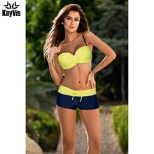 KayVis Sexy Bikini Women Swimsuit 2017 Summer Fashion Bathing Suit Leather Straps Brazilian Bikini Set Female Swimwear Biquini(China)